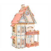3D Wooden Simulation Assembly Building Model  Gothic house/ Dream Villa/ St. Vasey Church For Children Toys