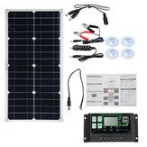Макс.портативная мощность 250 Вт Солнечная Панель Набор Двойное USB-зарядное устройство постоянного тока Набор Однокристальный полугибкий С