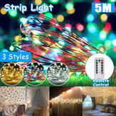 5M 50 LED String Lights Fairy Night Ornament Decor Holiday Christmas Wedding