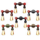 Retro Wall Lamp Industrial Iron Dual Water Pipe Shape Sconce Light Fixture Fitting Home Decor