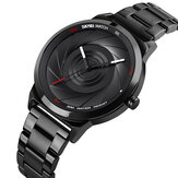 SKMEI 9210 Fashion Business Style Men Watch 3D Dail Водонепроницаемы Кварцевые часы из нержавеющей стали