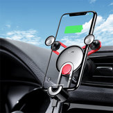 Baseus Gravity Linkage Automatical Lock Air Vent Car Phone Holder With Type-C USB-C Cable For Type-C Port Smart Phone 4.0 Inch - 6.5 Inch Samsung Galaxy S10