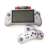 RETROAD 5 Plus 7 inch 16 Bit 4K HD Hangheld Game Console SFC Game Player with Wireless Game Controller Game Card Support TV Output