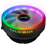 Great Wall X120 RGB CPU Cooler 3Pin 12V 120MM Radiator Fan Support Intel&AMD CPU Cooling Heatdiss Fan