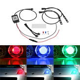 Par Bluetooth APP Control 5050 RGB LED Demon / Angel Eyes Lights til Offroad Headlight Retrofit