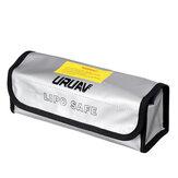 155 * 80 * 90 مم URUAV البطارية حقيبة واقية من الانفجار يبو حقيبة تخزين محمولة مقاومة للحريق