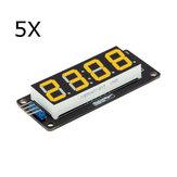 5шт 0.56 дюймов Желтый LED Дисплей Трубка 4-значный 7-сегментный модуль RobotDyn для Arduino - продукты, которые работают с официальными платами Arduino