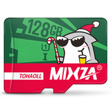 Mixza Christmas Shark Limited Edition 128GB U1 Classe 10 TF Micro Memory Card per DSLR Digital fotografica TV Scatola MP3