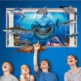Miico3dالإبداعيةpvcملصقاتالحائط ديكور المنزل جدارية الفن القابل للإزالة الغواصة العالم جدار الشارات