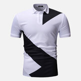 Hombres Regular Color Block Muscle Fit Golf Camisa