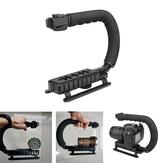 U Shape Labor-saving Adjustable Flashlight Bracket For Astrolux MF01 MF01S MF02 MF02S Flashlight Stand Camera Video Handle Grip Holder ABS Sponge Photographic Equipment