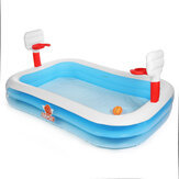 254*168*102cm Inflatable Swimming Pool Family Garden Outdoor Paddling Pool Summer Relax Fun