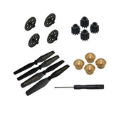 VISUO XS812 GPS RC Quadcopter Spare Parts Crash Pack Propeller & Gear & Tooth Wheel & Props Nut