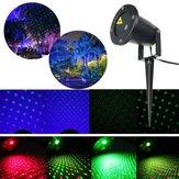 Открытый автоматический лазерный LED пейзаж свет лампы сад путь проектор