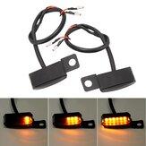 Original              2 piezas LED Indicadores de señal de giro Luz de agua corriente que fluye Ámbar Dinámico Moto Soporte para manillar de bicicleta
