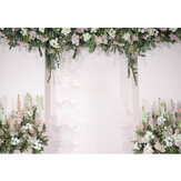White Flowers Wedding Photography Backdrop Curtain Party Photo Background Cloth Decoration Props