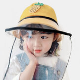 Dziecięca odpinana osłona twarzy Wiatroodporna przezroczysta czapka rybacka