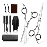 10pcs Professional Hair Cutting Scissors Thinning Shears Set Hairdressing Salon Barber