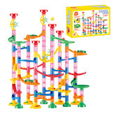133 PCS DIY Ball Track Building Pipe Blocks Toys For Children Construction Race Run Pipeline Block Educational Toy Game