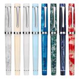 Penbbs 352 Resin Fountain Pen 0.5mm F Nib Rotary Inking Writing Signing Pen Gift Office School Supplies