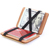 PU Money Card Clip Magisk Wallet Casual Clutch Bus Card Bag
