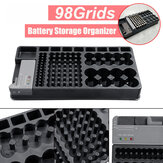 98Grids Battery Organizer Storage Holder with Removable Battery Tester Case