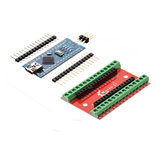 NANO IO Shield Expansion Board + ATmega328P Nano V3 Controller Geekcreit for Arduino - products that work with official Arduino boards