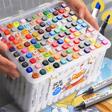 TOUCH 36/48/60/80 Colors Marker Pen Set Dual Head Oily Marker Pen Painting Sketching Bright Color Pen Set For Children Student Beginner Professional