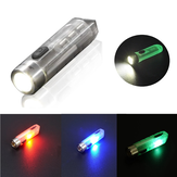 JETBEAM MINI-ONE SE 500lm GITD EDC LED Llavero Linterna con UV / Luz lateral RGB verde / roja Type-C Mini luz de bolsillo recargable 365nm UV Linterna Auto-luminosa cámping Luz