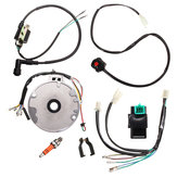 Motorcycle Universal Dirt Pit Fiets CDI Spark Plug Switch Magneto Wire Harness Kit 50-125cc
