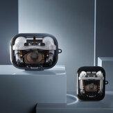 Bakeey modèle de Structure de perspective mécanique créative TPU étui de rangement pour écouteurs anti-poussière antichoc pour Apple Airpods 1/2/3 Airpods Pro