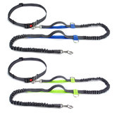 Hands Free Dog Leash Running Jogging Waist Belt Pet Training Elastic Leashes Dog Training Stick