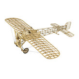 AEORC Static Wooden Aircraft Model VX14 Bleriot XI 1:23 400mm Wingspan Building DIY Airplane KIT