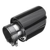 63mm吸気ユニバーサル光沢カーボンファイバーカー排気パイプテールマフラーエンドチップ