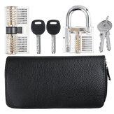 Titanium 24 Pieces and  Two Locks Locksmith Training Lock Set Pransparent Padlock AB Lock Picks