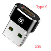 Baseus USB Male to USB Type C Female OTG Adapter Cable Converter Untuk Nexus 5x 6p Oneplus 3 6