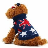 Union Jack Pet Clothes Honden Kat Puppy Winter Warm Knit Sweaters Jassen Kostuum Apparel Honden Sweater