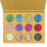 12 Color Diamond Glitter Rainbow Eye Shadows Makeup Kosmetisk Pressad Palett