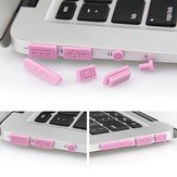 Colorful Soft Silikone Anti Dust Plug Ports Set For Macbook Pro Retina 13.3 15.4