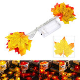1.5M 10 LED Fall Maple Fairy Light String Garland Lamp Christmas Light Xmas Home Decor