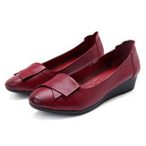 Damen Bequeme Soft Leather Flats Loafers