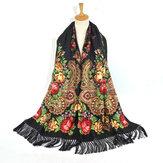 Impresión de la borla mantón bufanda bufanda mexicana