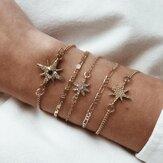 Fashion New Full Diamond Cool Bracelet Set Ornament
