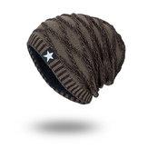 Bonnet en laine tricoté saison Plus Bonnet noir chaud cinq étoiles