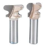 Drillpro 1/2 Pollici Fresa a doppio dito per legno con codolo Fresa per legno 2 flauti Fresa