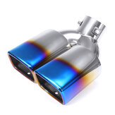 63mm Motorcycle Stainless Steel Inlet Sports Exhaust Tail Pipe Muffler Cover Cover