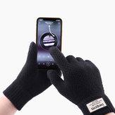 Unisex Winter Mobile Screen Touch Handschuhe Stretch Knit Warme Handschuhe