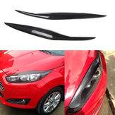 Brwi powieki samochodowe z włókna węglowego do samochodu Ford Fiesta MK7.5 2012-2017 MK8 2013-2016