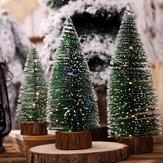 Noel Ağacı Süsleme Çam İğne Ağacı Işıkları Ile Parti Masa Masaüstü Noel Süslemeleri Ev Hediyesi için Noel Hediyesi