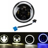 7inch Round LED Fari Blue Halo Ring Angel Eyes per Jeep Wrangler JK TJ LJ CJ